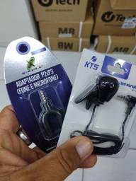 Adaptador P2P3 mais microfone de lapela