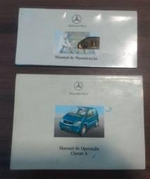 Manual do Proprietário Mercedes Classe A ano 2000 a 2001