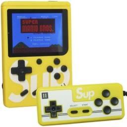 Game box portátil com controle 400 jogos na memória $80