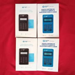 Kit com 4 maquina de cartão point mini