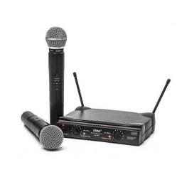 Microfone Profissional Sem Fio Duplo Lelong Le-906