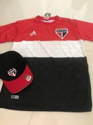 Kit São Paulo M  camisa+boné