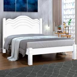 Cama de Casal Modelo Samira Cor Branca - Em até 12X S/ Juros no Cartão