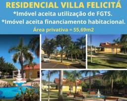 APARTAMENTO 55M² EM SAO JOSE DO RIO PRETO - RESIDENCIAL VILLA FELICITÁ
