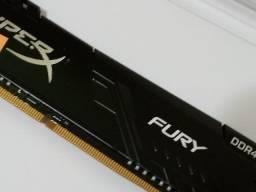 Memória Ddr4 desktop Hyperx Fury 8gb 2400 ou 2666mhz Black Hx426c16fb3/8 ? Lacrado