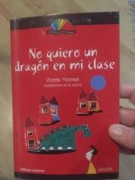 """Livro em espanhol """"No quiero un dragón in mi clase"""""""