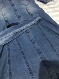 Vestido Jeans, Manga bufante tamanho G