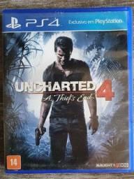 Título do anúncio: Uncharted 4 - Mídia física Usada PS4