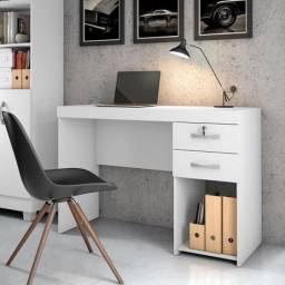 Título do anúncio: Escrivaninha Office Iara Branco  - Frete Grátis - Receba Hoje!