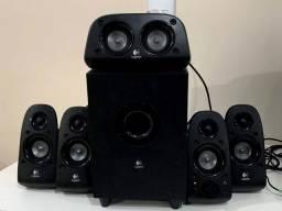 Caixas de Som Logitech Amplificada 5.1 -  75W - Z506