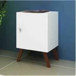 Título do anúncio: Mesa Lateral Cubo Branco em até 3x s/ juros no cartão!
