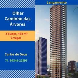 Mega Lançamento:Olhar Caminho das Árvores, 4 suítes, 164 m², 3 vagas, Alameda Catabas