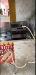 Carrinho hot dog, pouco usado