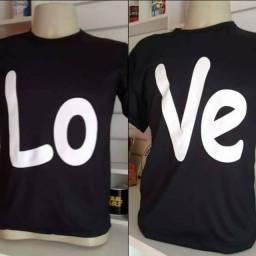 Kit camisetas casal love