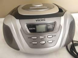 Rádio AM/FM e CD Vicini 110/220v