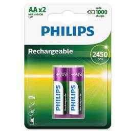 Pilha Recarregável Philips AA
