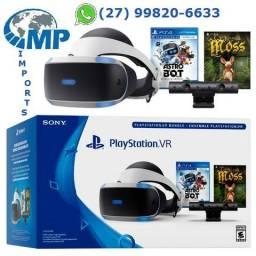 Playstation 4 Vr Óculos Realidade Virtual com 2 Super Lançamentos!! Moss e Astrobot! op12x