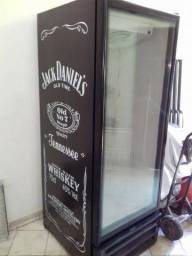 Geladeira Expositor Vertical Porta de vidro Adesivado