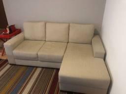 Sofá 3 lugares com chaise Viterbo - Novissimo - Baixei o valor