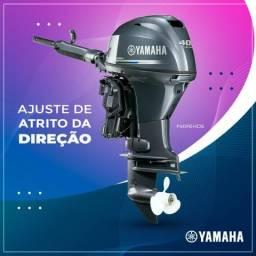 Motor Yamaha F40 4 tempos com manche