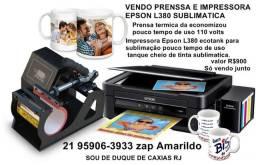Vendo prensa térmica e impressora Epson L380 sublimatica
