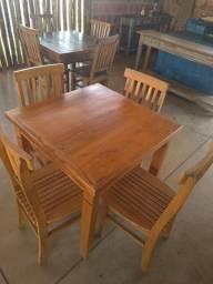 Mesa em cerejeira c/4 cadeiras