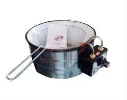 Fritadeira Elétrica Industrial/Residencial Tacho 3,5 Litros Esmaltada Branca 110v - Nova