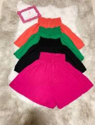 Short(rosa,preto,verde e laranja)