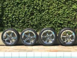 Rodas 18 cromadas c/ pneus