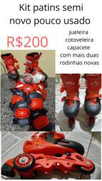 Kit patins infantil