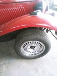 Rodas da MP lafer com pneus, serve para Fusca, Brasília, Variant, TL, TC...