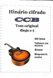Hinário Edição 5 Da Congregação cristã ( Cifrado Para Violão ) Tom Original