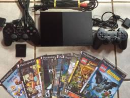 Playstation 2 Slim Destravado+ 15 Jogos