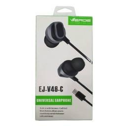 Fone de ouvido Tipo C Verde EJ-V46-C