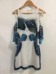 Vestido com base branca Regina Salomão