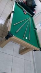 Mesa Tentação MDF Cor Cerejeira Tecido Verde Mod. CMRJ7029