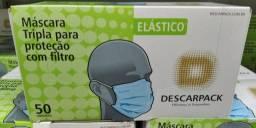 Cx 50 un / Máscara Descartável Descarpack Tripla