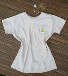 Camiseta feminina T-shirt baby look MARGARIDA