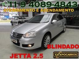 Volkswagem Jetta 2.5 Tiptronic - Ano 2007 - Blindado - Financiamento Fácil