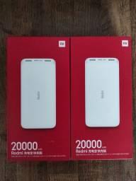 Bateria Externa de 20.000 mAh da Xiaomi.. NOVO lacrado com entrega imediata..