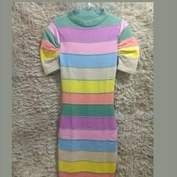 Vestido tricô modal L'amour moda