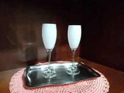 Taças de champanhe