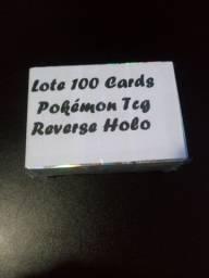 Lote 100 Cards Reverse Holo + GX Pokémon Aleatórios Tcg Copag (Sem Repetições) Ultimo Lote