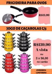 Caçarolas e frigideiras (para ovos) em cores
