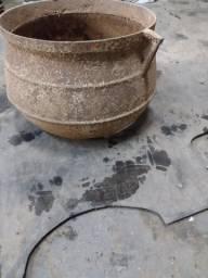 Caldeirão ferro fundido Antigo para enfeite