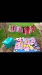 Estojo / Roupinhas e Sapatinhos de Bebê / vestido Junino