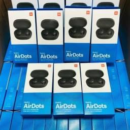 Fones Xiaomi AirDots Air Dots S - Novo Original Bluetooth Preto