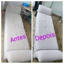 Higienização e LAVAGEM de sofá cama box colchões cadeiras poltronas