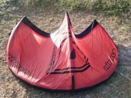 Kite completo, Airush DNA 8m 2014, barra + bolsa + trapézio + leash R$ 1. 500
