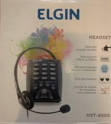 Título do anúncio: Headset Elgin - Telefone com fone